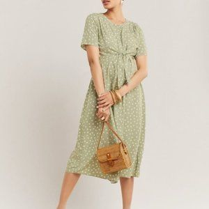 Thyme | Short Sleeve Button-Down Maternity Dress